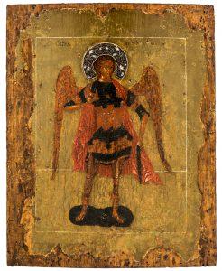 Erzengel Michael Russische Ikone, um 1600 32 x 25,5 cm